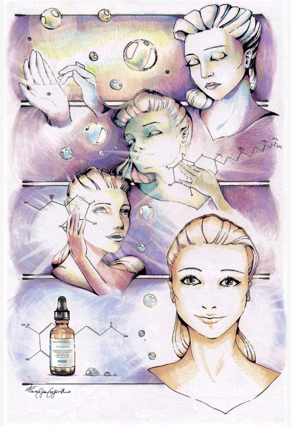 Francesca Cresciullo - Gocce di splendore for SkinCeuticals Form Of Art Comics