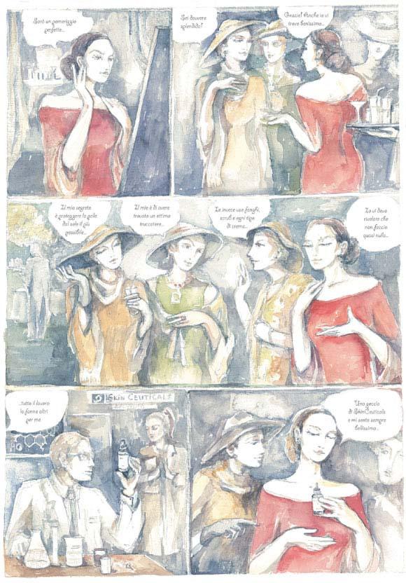 Mariya Antonova Gyukova - Segreti di donna for SkinCeuticals Form Of Art Comics