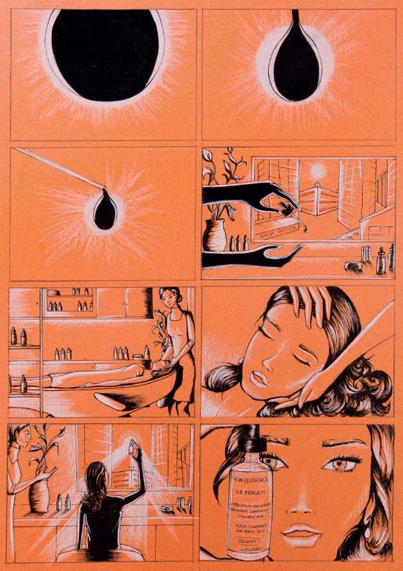 Federica Iaccio - Eclissi in una goccia for SkinCeuticals Form Of Art Comics