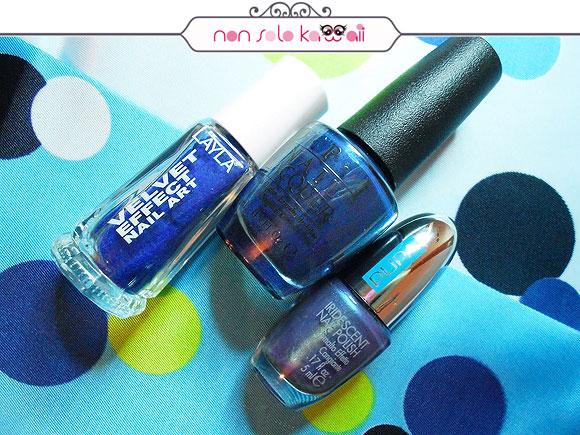 non solo Kawaii - Nail Arts for Grazia.it, Electric Blue