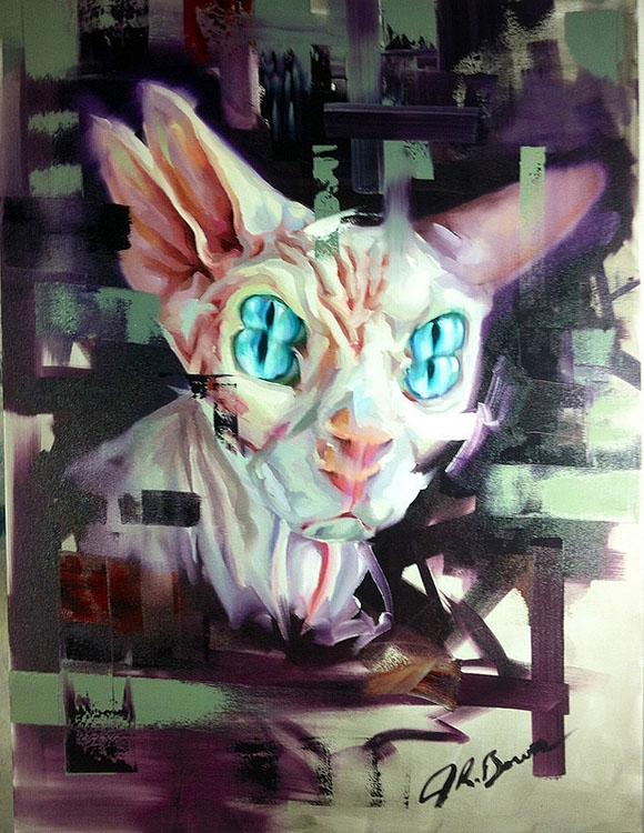 Cat Art Show, 101/exhibit - Justin Bower