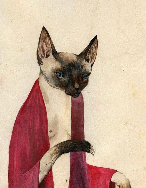Cat Art Show, 101/exhibit - Prowler, Kevin Earl Taylor