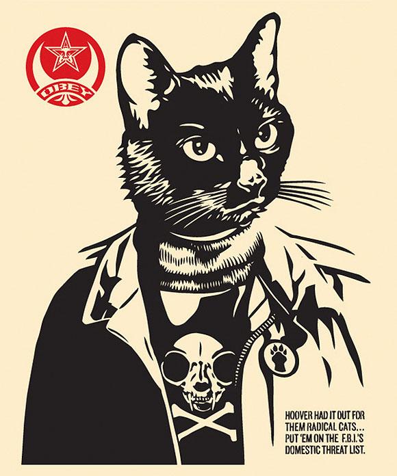 Cat Art Show, 101/exhibit - Radical Cat, Shepard Fairey