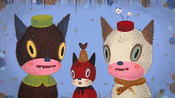 Cat Art Show, 101/exhibit - Gary Baseman