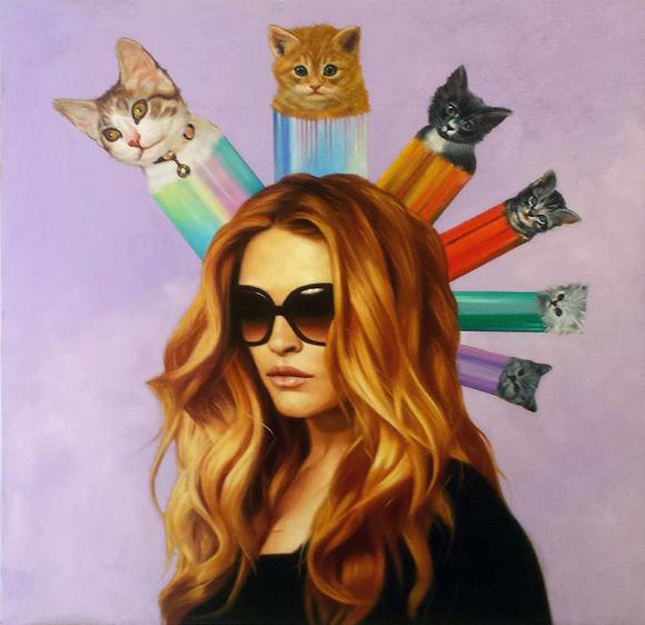Cat Art Show, 101/exhibit - Fritz and Scholders, Britt Ehringer