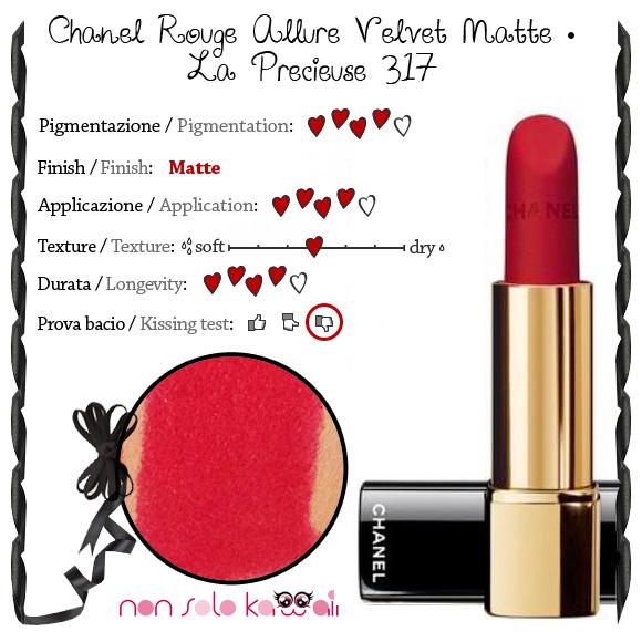 non solo Kawaii - Chanel Rouge Allure Velvet Matte, La Precieuse 317