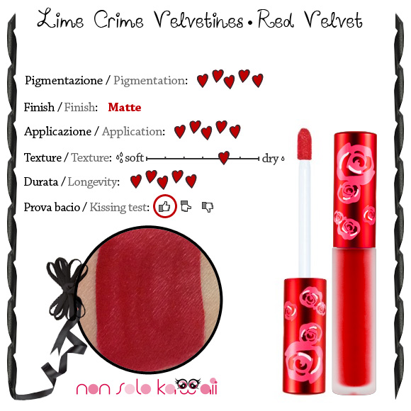 non solo Kawaii - Lime Crime Velvetines, Red Velvet