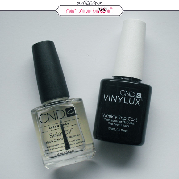 non solo Kawaii, CND SolarOil, CND Vinylux Weekly Top Coat