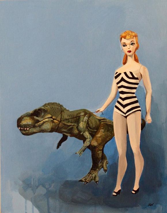 Barbie and Rex, Alexandra Loessere - Nostalgia, Modern Eden Gallery