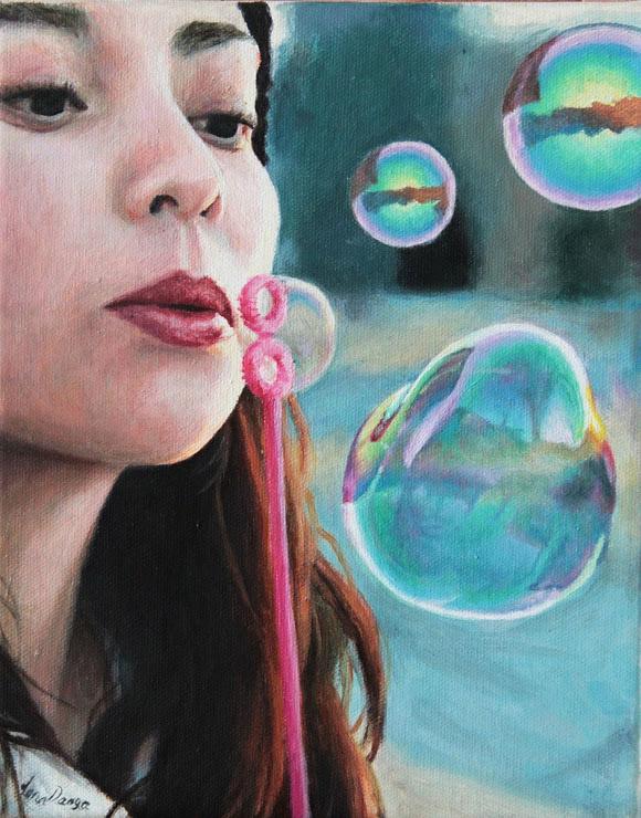 Worlds in Bubbles, Lena Danya - Nostalgia, Modern Eden Gallery