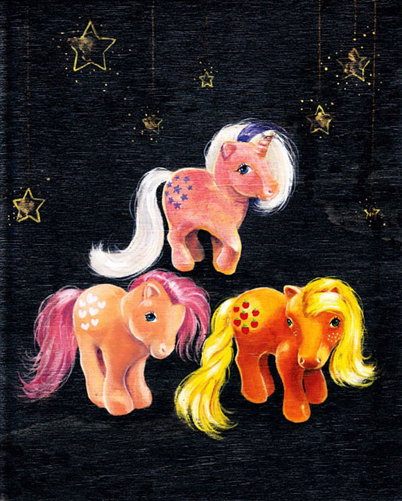 My Little Ponies: Twilight, Peaches, & Applejack, Sherry DeLorme - Nostalgia, Modern Eden Gallery