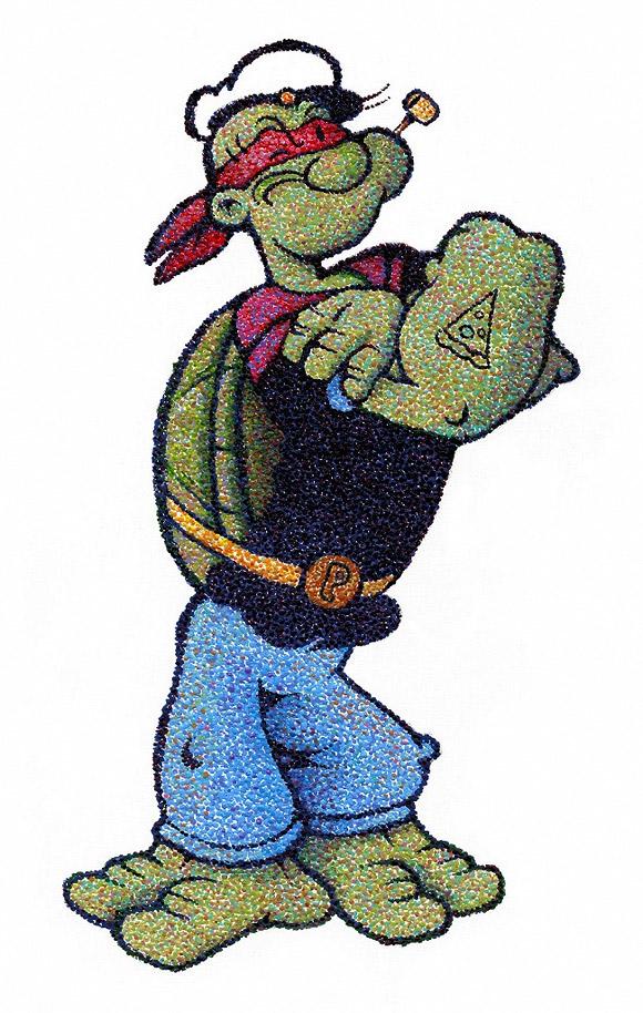 Popeye Mutant Ninja Turtle, JoKa - Nostalgia, Modern Eden Gallery