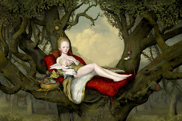 Ray Caesar, Mother and Child - The Trouble with Angels, Dorothy Circus Gallery