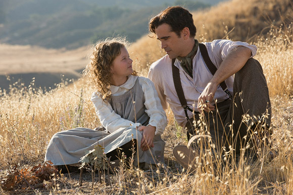 Walt Disney Pictures - Saving Mr. Banks - Saving Mr. Banks, Annie Rose Buckley as a young P. L. Travers & Colin Farrell as Robert Goff Travers