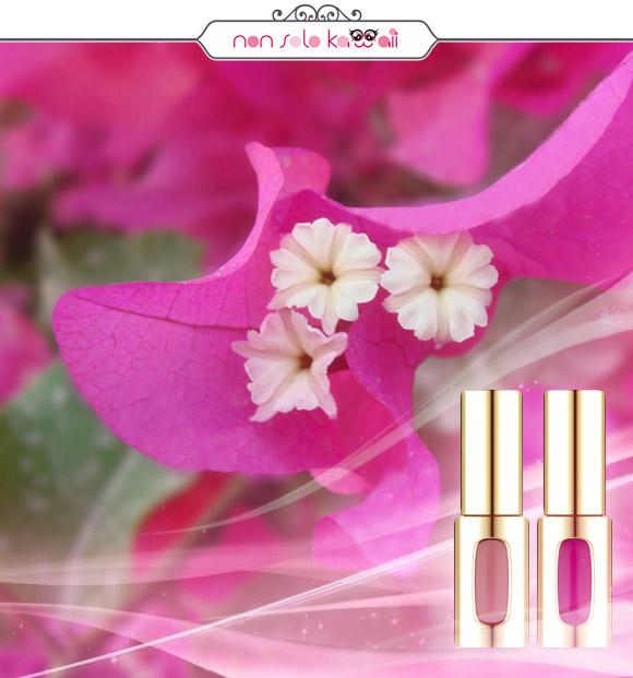 non solo Kawaii - L'Oréal Paris Extraordinaire by Colour Riche 101 Rose Melody, L'Oréal Paris Extraordinaire by Colour Riche 401 Fucsia Drama