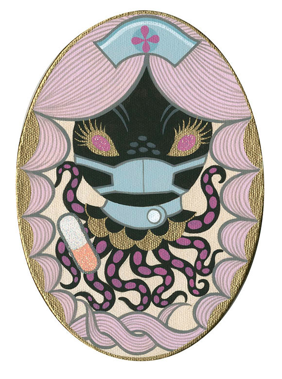 Junko Mizuno, Octopus Nurse Pink - The Cotton Candy Machine Gallery