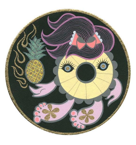 Junko Mizuno, Pineapple Girl Pink - The Cotton Candy Machine Gallery