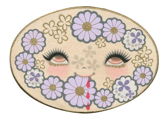 Junko Mizuno, Bleeding Flower Violet - The Cotton Candy Machine Gallery