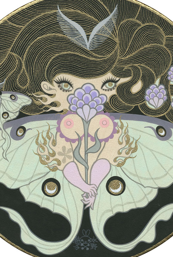 Junko Mizuno, Luna Moth - The Cotton Candy Machine Gallery
