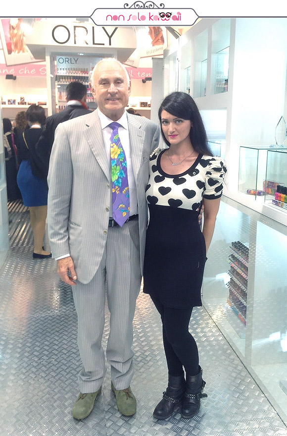 non solo Kawaii Orly Cosmoprof 2014 - Angela with Jeff Pink