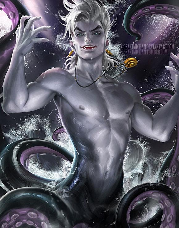 Sakimichan, Ursula [Disney - The Little Mermaid / La Sirenetta]