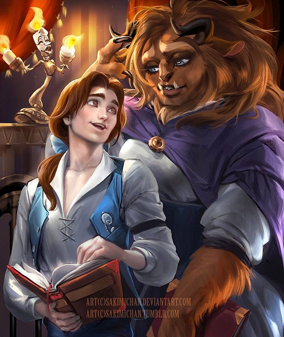 Sakimichan, Belle and the Beast [Disney - Beauty and the Beast / La Bella e la Bestia]