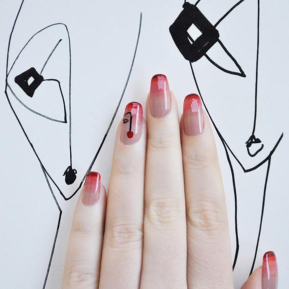 non solo Kawaii + Grazia | Nail art Neo Figurativa
