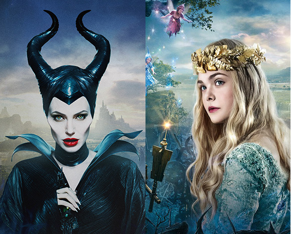Maleficent, Walt Disney Pictures - Angelina Jolie as Maleficent & Elle Fanning as Princess Aurora