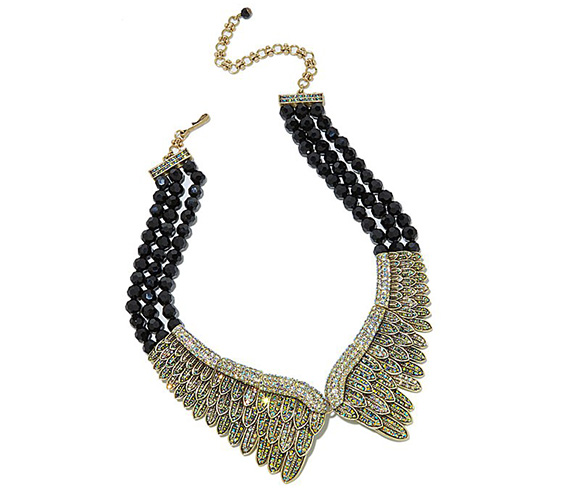 Heidi Daus - Heidi's Angels 3-Row Beaded Crystal Bib Necklace