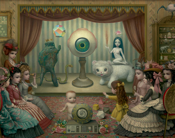 Mark Ryden, The Parlor (Allegory of Magic, Quintessence and Divine Mystery), 2012 - The Gay 90's West