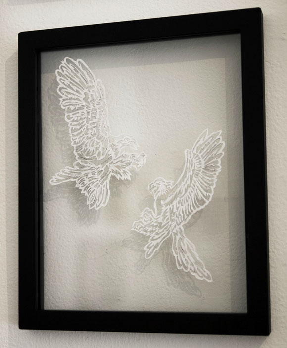 Elaine Penwell, Flight Call - Paper Cuts at Spoke Art