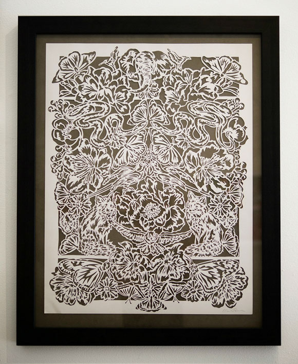 Elaine Penwell, Managerie - Paper Cuts at Spoke Art