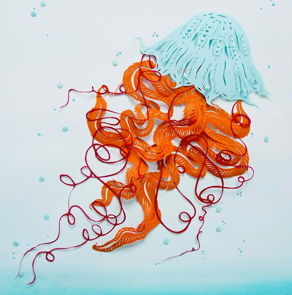 Sarah Dennis, Jellyfish in the Light - Paper Cuts at Spoke Art