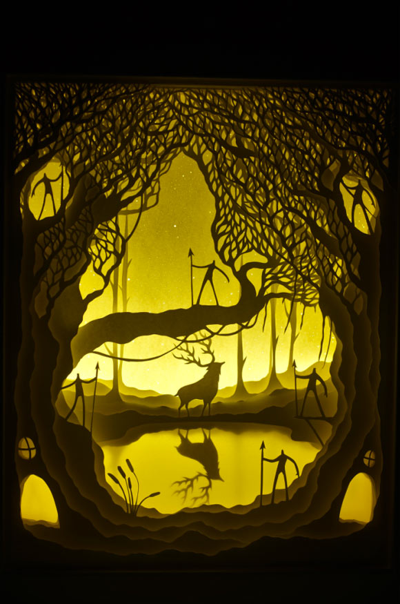 Hari & Deepti, Enchanted Land - Paper Cuts at Spoke Art