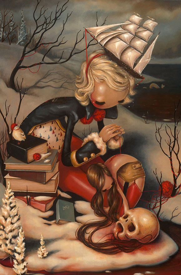 Brandi Milne, Hold Fast | Here Inside My Broken Heart, Corey Helford Gallery