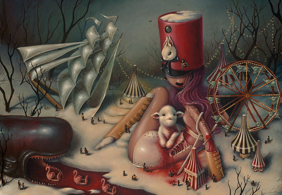 Brandi Milne, I Never Dreamed Of Such a Place | Here Inside My Broken Heart, Corey Helford Gallery