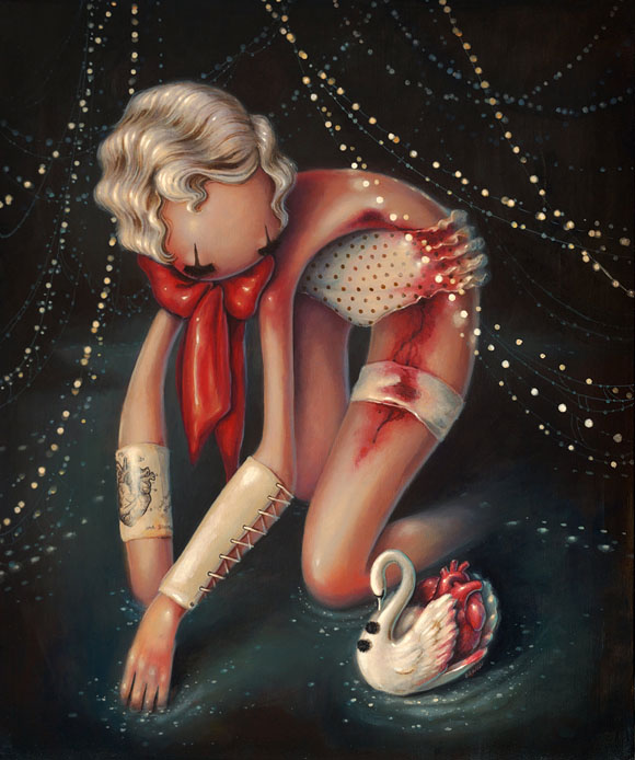 Brandi Milne, My Heart Is The Burden I Bear | Here Inside My Broken Heart, Corey Helford Gallery