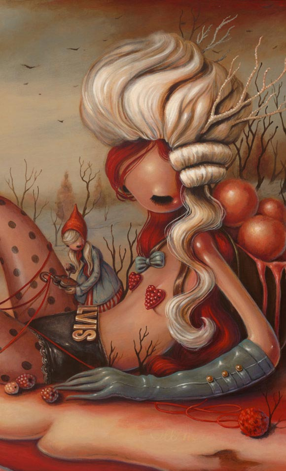 Brandi Milne, See With Your Eyes This Beautiful Creature | Here Inside My Broken Heart, Corey Helford Gallery