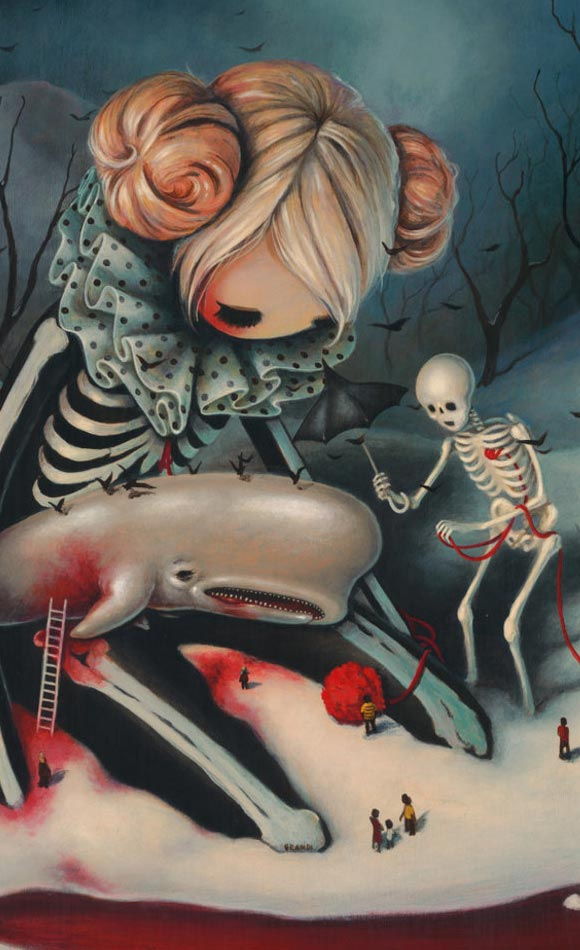Brandi Milne, The Little Death | Here Inside My Broken Heart, Corey Helford Gallery