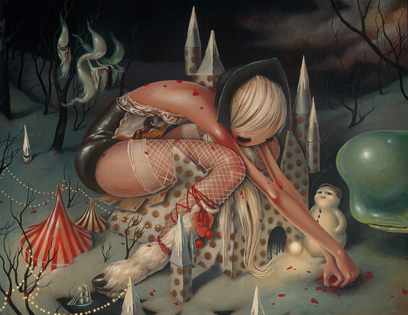 Brandi Milne, Who I Once Was | Here Inside My Broken Heart, Corey Helford Gallery
