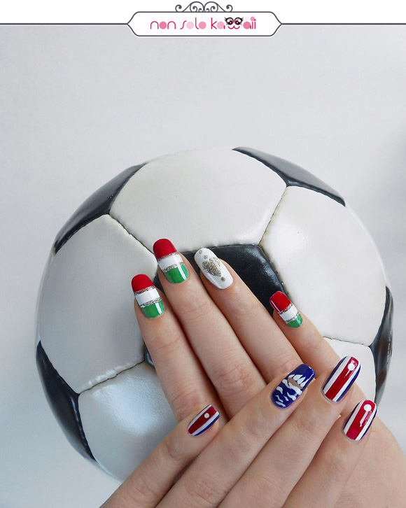 non solo Kawaii per Collistar: Italia vs. Costa Rica Nail Art