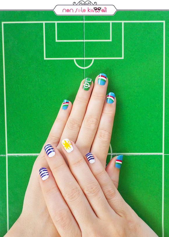 non solo Kawaii per Collistar: Italia vs. Uruguay Nail Art