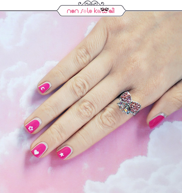 non solo Kawaii - Nail Arts for Grazia.it, Pretty in Pink