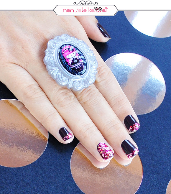 non solo Kawaii - Nail Arts for Grazia.it, Disco Glam