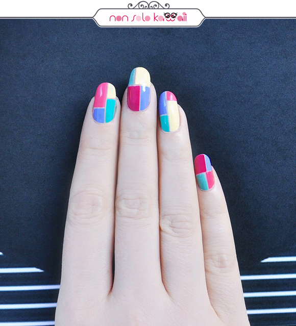 non solo Kawaii - Nail Arts for Grazia.it, Color Blocking