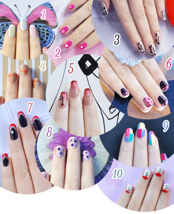 Poll, nail arts by non solo Kawaii for Grazia.it