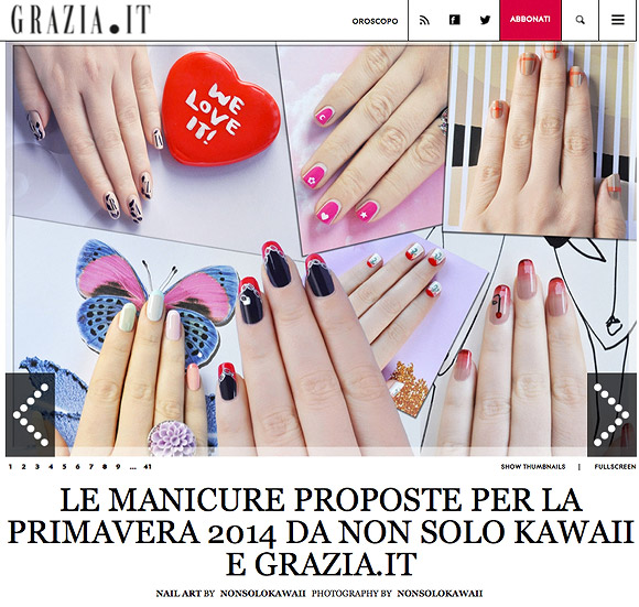 non solo Kawaii - Nail Arts for Grazia.it, Trasparenze
