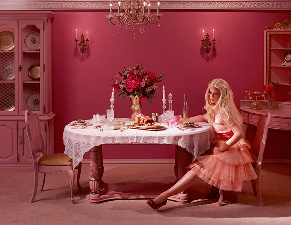 Dina Goldstein, Dining Alone - In The Dollhouse