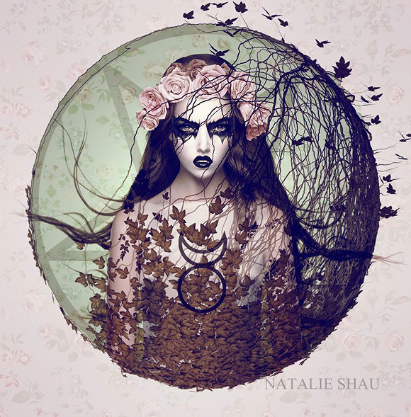 Natalie Shau, Summoning - Forgotten Heroines at Last Rites Gallery