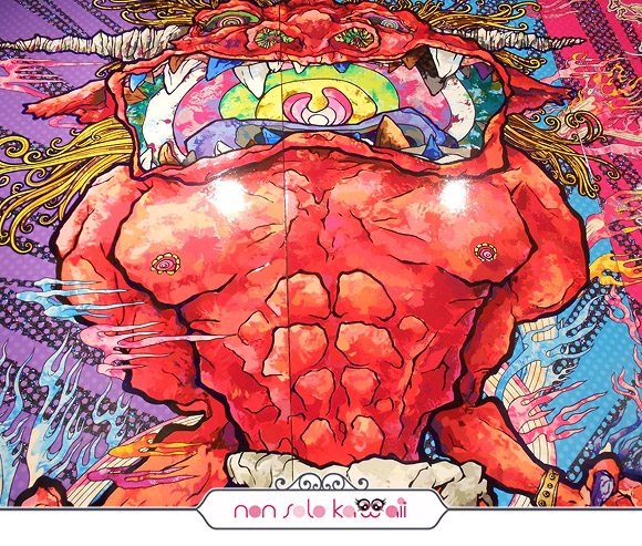 Red Demon and Blue Demon with 48 Arhats, 2013 - Il Ciclo di Arhat, Takashi Murakami | Palazzo Reale